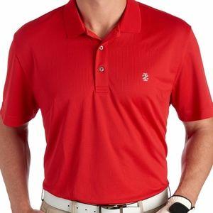 NWT Men's Red Izod Grid Polo Shirt; XXL